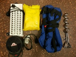 Headset, lifejackets, heaters, ground hooks